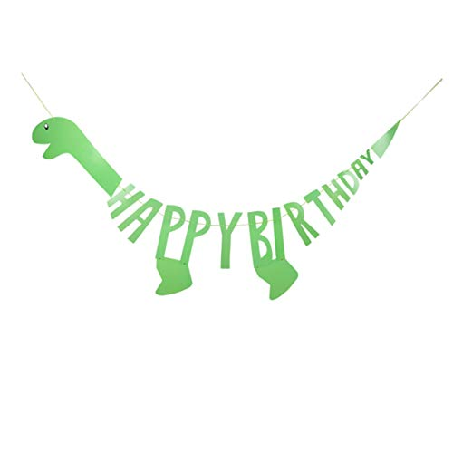 Cute Dinosaur Happy Birthday Banner – New 2019 Design Perfect Decoration/Supplies for Boy or Girl Themed Party – Large and Pre-Assembled