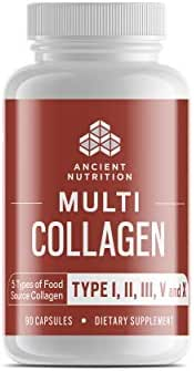 Multi Collagen Protein Pills, Formulated by Dr. Josh Axe, Blend of Grass-Fed Beef, Chicken, Wild Fish and Eggshell Collagen Peptides, Supports Skin, Nail & Gut Health, 90 Count