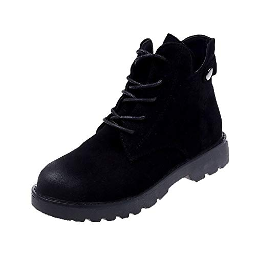 Black 8.5 US Black 8.5 US Women's Comfort shoes PU(Polyurethane) Spring & Fall Vintage Boots Flat Heel Booties Ankle Boots Black