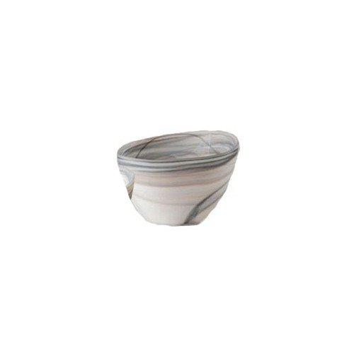 Alabaster Bowl (Shiraleah Medium Taupe Frosted Alabaster Slanted Bowl)