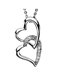 Sterling Silver Sisters By Heart Pendant ~ Deborah J. Birdoes with chain