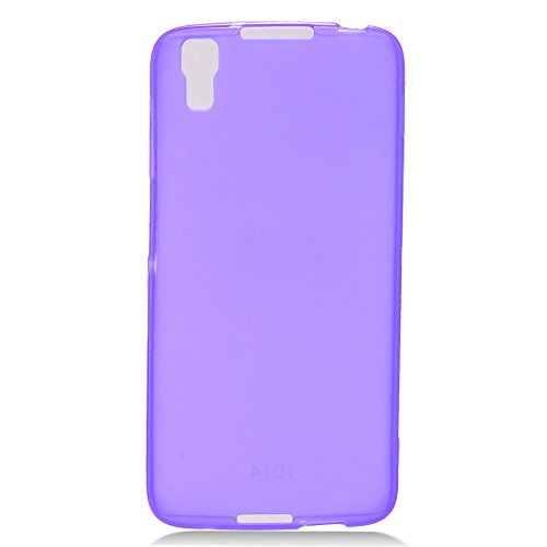 Tempered Glass+Slim TPU Rubber Case Cover For Alcatel Idol 4