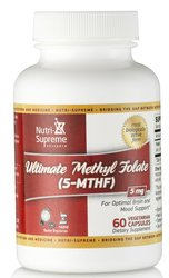 Nutri Supreme Ultimate Methyl Folate (5-mthf) 5mg 60count