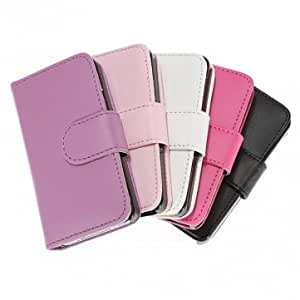 Wallet PU Leather Credit Card Holder Pouch Case For iPhone 4 4S --- Color:Purple