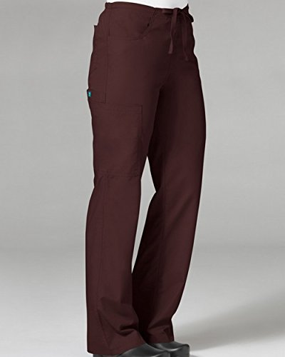 Core By Maevn Women's Boot Cut Cargo Scrub Pant Medium Chocolate