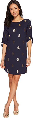Lilly Pulitzer Women's Preston Dress True Navy Reel It In All Over (Lilly Pulitzer Tie)