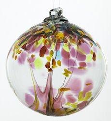 Kitras Art Glass Mother Motherhood Tree of Enchantment Ornament Ball - 6