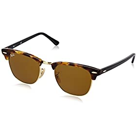 Ray-Ban CLUBMASTER - SPOTTED BROWN HAVANA Frame BROWN Lenses 51mm Non-Polarized