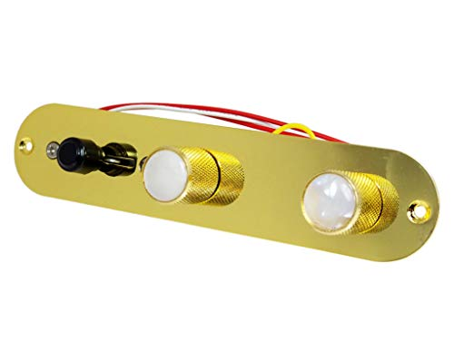 Gold Pre-wired Pickup Selector with Volume, Tone and 3-way Switch ()