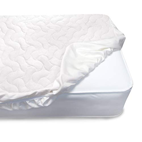 (Serta Sertapedic Crib Mattress Pad Cover/Protector with Nanotex Stain Repel and Release,)