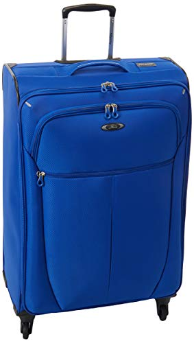 - Skyway Luggage Mirage Superlight 28-Inch 4 Wheel Expandable Upright, Maritime Blue, One Size