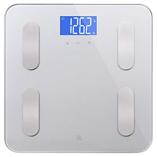 GreaterGoods Digital Body Fat Weight Scale, Body Composition, BMI, Muscle Mass & Water Weight (Calculate Lean Body Mass Body Fat Percentage)