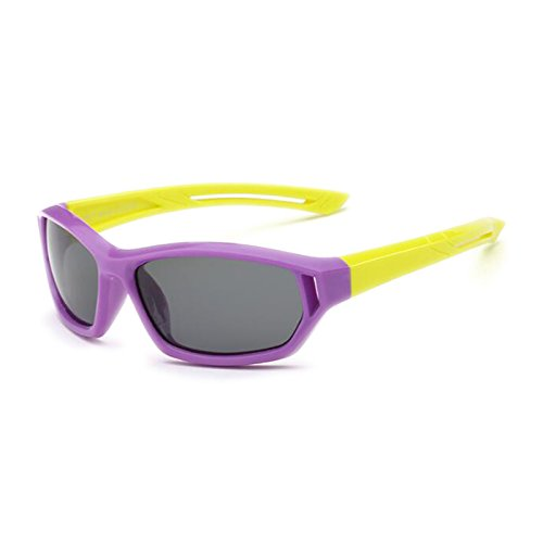 Boys Moolo frame Color Glasses Sol Gafas yellow Purple Black Silicone Girls Red Frame de Kids Protección Gafas leg Sunglasses Soft Leg Polarized Materials UV fFqFIr