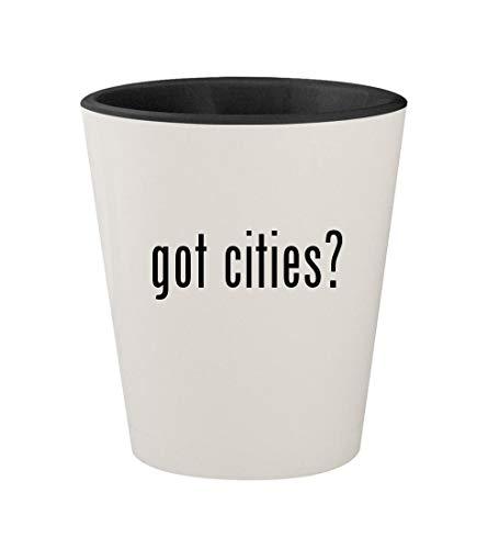 got cities? - Ceramic White Outer & Black Inner 1.5oz Shot Glass