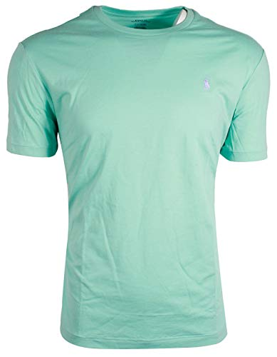 Polo Ralph Lauren Mens Crew-Neck T-Shirt (Small, Seafoam Green (Lavender Pony))