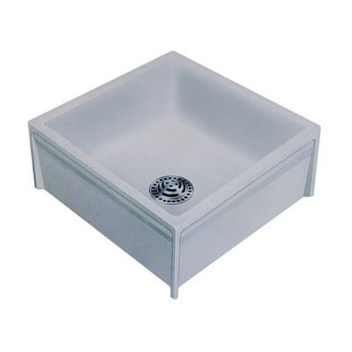 Swanstone MS-2424-3 24-Inch by 24-Inch Mop Service Sink, White