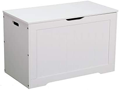 Yusong Toy BoxWooden Storage Chestfor EntrywaybedroomWhite