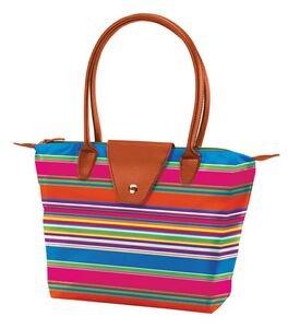 (Joann Marrie Designs NF1OR Small Fold-Up Bag44; Orange & Black Handle )