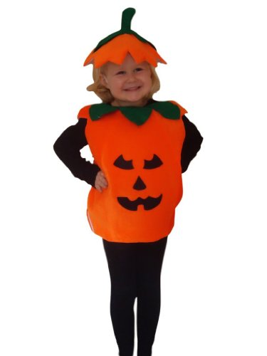 Fantasy World Pumpkin Halloween Costume f. Children/Boys/Girls, Size: 4t, (Home Costumes Ideas For Women)
