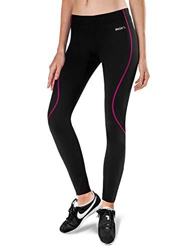 BALEAF Women's Thermal Fleece Running Cycling Tights Black Hot Pink Size XS