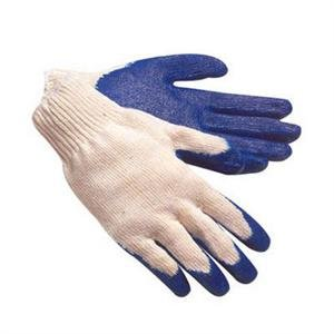 Glove Blue Latex Palm small Cotton/poly (Latex Gripper Gloves)