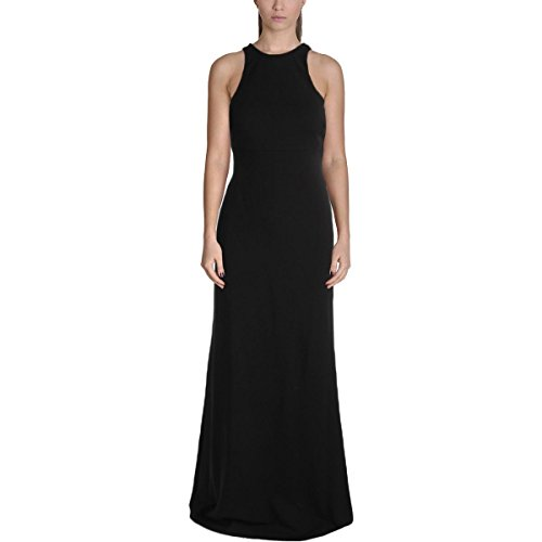Vera Wang Women's Fitted Gown with Back Detail, Black, 2 -