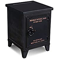 Crafters and Weavers Reclaimed Wood Graffiti Nightstand End Table With Storage