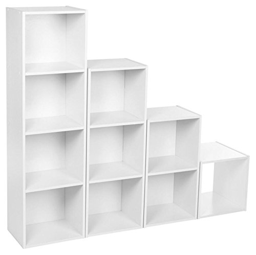 Furnituremaxi 3 Tier Wooden Bookcase Display Shelves Storage Unit Home Office, Legno, White, 30 x 23.5 x 79.5 cm Sheng Yang 21347