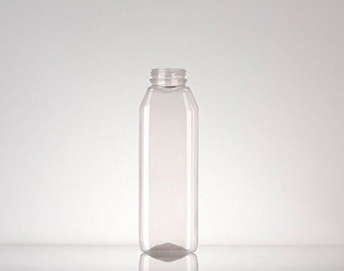 Captiva Containers Square Plastic Bottle with Cap by Captiva Containers