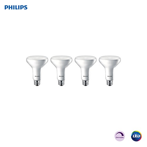 Philips LED Dimmable BR30 Light Bulb: 650-Lumen, 2700-Kelvin, 11-Watt (65-Watt Equivalent) E26 Base, Frosted, Soft White, 4-Pack