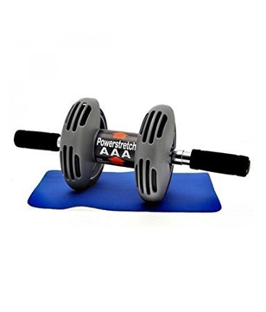 Inditradition Total Body Exerciser with Spring Action/Power Spring Roller - (Black) / Free Knee Pad