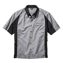 Talladega Racing Shirt - SIMPSON SAFETY Large Gray/Black Talladega Crew Shirt P/N 39012LG