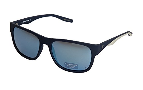 HickmannT-Charge Plastic Frame Men Sunglasses,Polarized (Matte Blue - T Sunglasses Charge