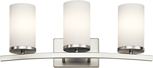 Kichler 45497NI Crosby 23 3-Light Bath Vanity in Brushed Nickel