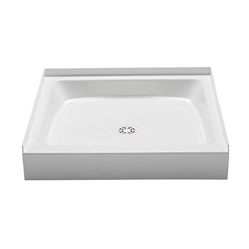 (PROFLO PFSB3636WH Single Curb Rectangular Shower Pan (36