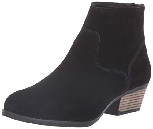 (Skechers Women's Lasso-Caravel-Short Zip-On Ankle Boot, Black, 6 M US)
