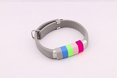 Weston Jewelers 6Pcs Non-slip Buckle Secure Fastener for Jawbone UP3 UP2 Activity Tracker Bracelet (Non-slip Buckle 6pcs)