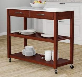 Amazon.com - Kitchen Islands With Storage - Cherry Wood ...