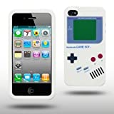 """Iprotect ORIGINAL APPLE IPHONE 4 / 4S GAMEBOY RETRO SILIKONH�LLE MIT KN�PFEN IN WEISS // CASE TASCHE H�LLEvon """"iprotect"""""""