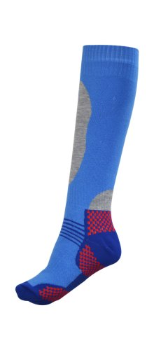 Price comparison product image Octave Ladies Ski Socks With Shin Protection - Size US 6-9, Royal Blue
