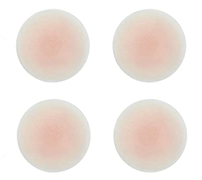 DaisyFormals Thin Pasties - Reusable Adhesive Silicone Nipple Covers(2 Pairs Round)