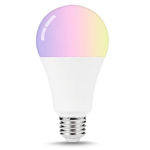 LOHAS Smart Bulb A21 Light, WiFi Control LED Bulbs Color Changing, 100W-150W Equivalent Smart Lighting, E26 Base, RGBW LED, Decorative Lights for Cafe, Bar, Bedroom, Compatible with Alexa