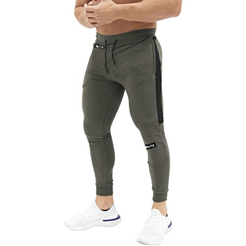 Mechaneer Men's Bodybuilding Workout Sweatpants Joggers Running Activewear Trousers