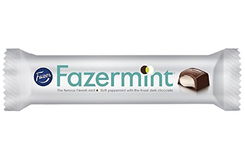 5 Bars x 41g of Fazer Fazermint - Original - Finnsh - Dark Chocolate with Mint filling