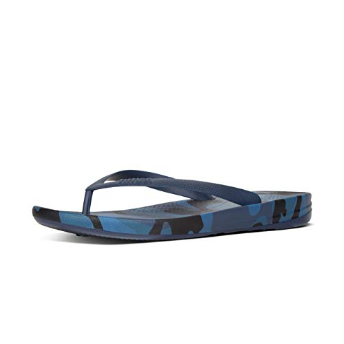 ae1ebe4edad9f2 FitFlop Men s Iqushion Camo Ergonomic Flip-Flops Midnight Navy Mix 8    Sunlotion