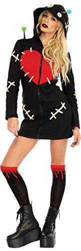 Leg Avenue Women's Adorable Cozy Voodoo Doll Outfit Adult Fancy Dress Halloween Costume, M (8-10) -