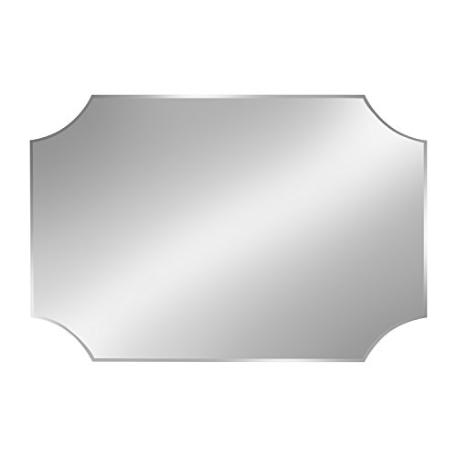 Beveled Light Wall (DesignOvation Reign Frameless Rectangle Scalloped Beveled Mirror)