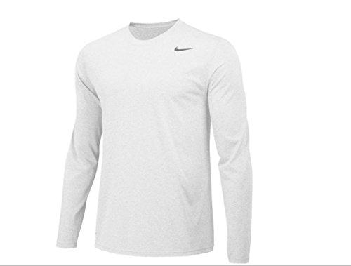 - Nike Mens Longsleeve Legend - White - Large