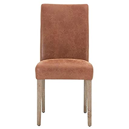 size 40 85075 d7eae Amazon.com - MAKLAINE Genuine Leather Dining Chair in ...