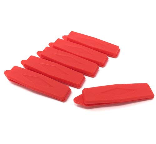 Set of 6 dog hair clips in red colour